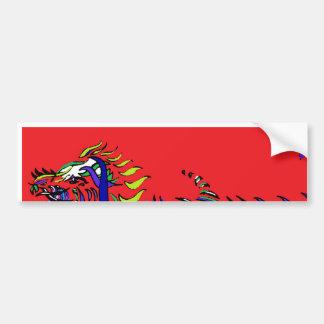 Roter Drache - Band-Reihe - Drache Autoaufkleber