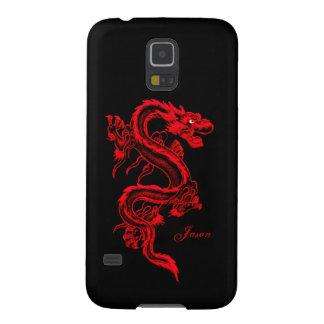 Roter Drache-kundenspezifischer Samsung S5 Hüllen