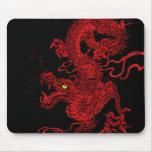 Roter Drache Mousepad