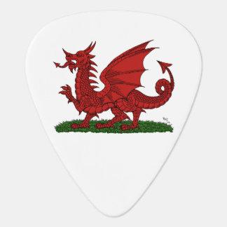Roter Drache von Wales Plektrum