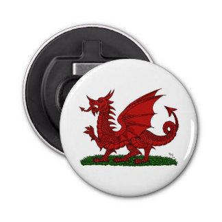 Roter Drache von Wales Runder Flaschenöffner