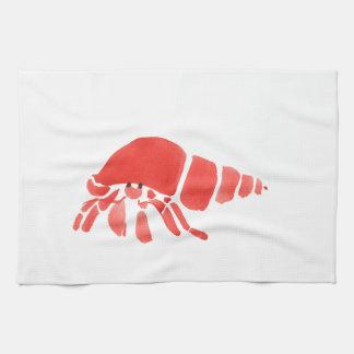 Roter Einsiedlerkrebs Handtuch