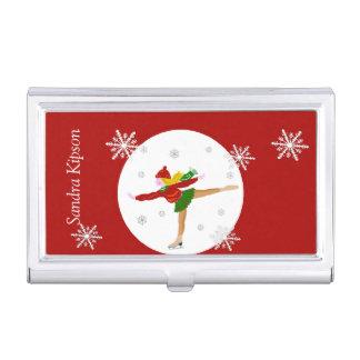 Roter Eis-Skaten-Geschäfts-Kartenhalter Visitenkarten Etui