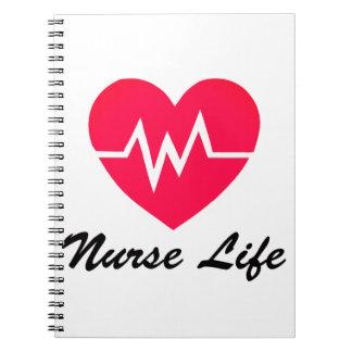 Roter EKG Herz-Notizblock des Notizblock