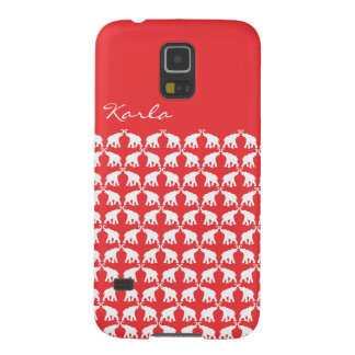 Roter Elefant Samsung Galaxy S5 Hülle