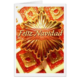 roter Entwurf feliz-navidad Fiestas Karte