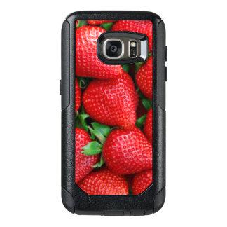 Roter Erdbeermuster-Entwurf OtterBox Samsung Galaxy S7 Hülle