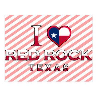 Roter Felsen, Texas Postkarte