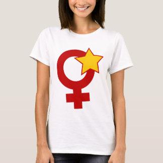 Roter Feminist auf weißem Baby - Puppe T-Shirt
