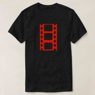 Roter Film-Streifen T-Shirt