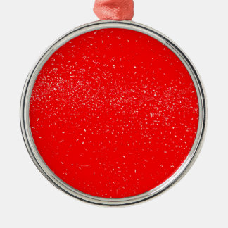 Roter Fleck Rundes Silberfarbenes Ornament