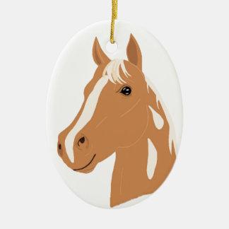 Roter Flug das glückliche Pferd Keramik Ornament