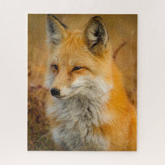 Roter Fox-Foto-Puzzlespiel Puzzle