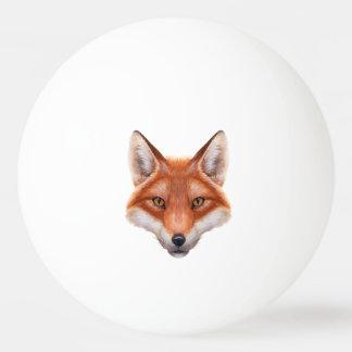 Roter Fox-Gesichts-Klingeln Pong Ball Ping-Pong Ball
