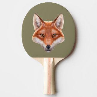 Roter Fox-Gesichts-Klingeln Pong Paddel Tischtennis Schläger