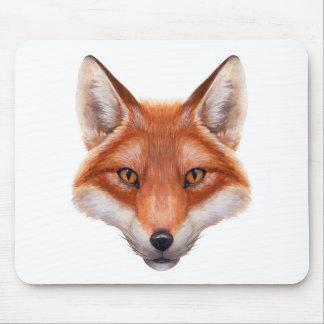 Roter Fox-Gesichts-Mausunterlage Mousepad
