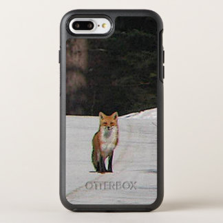 Roter Fox im Schnee-Tier OtterBox Symmetry iPhone 8 Plus/7 Plus Hülle
