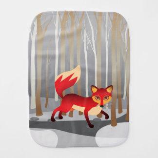 Roter Fox im Winter-Holz Baby Spuchtücher