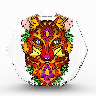 Roter Fox-Kopf Stylized Zeichnen Auszeichnung