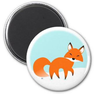 Roter Fox-Magnet Runder Magnet 5,7 Cm