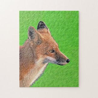 Roter Fox-Malerei - ursprüngliche Tier-Kunst Puzzle