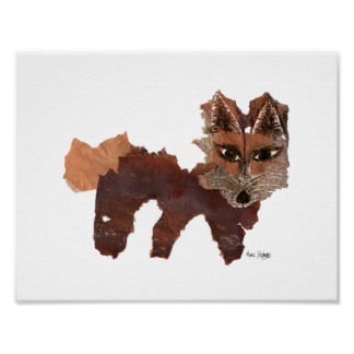 Roter Fox-Plakat durch Marie Stephens Kunst Poster