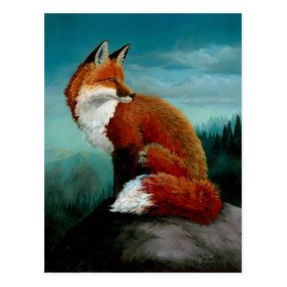 Roter Fox-Postkarten Postkarte