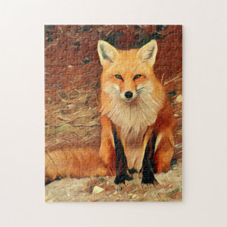 Roter Fox Puzzle