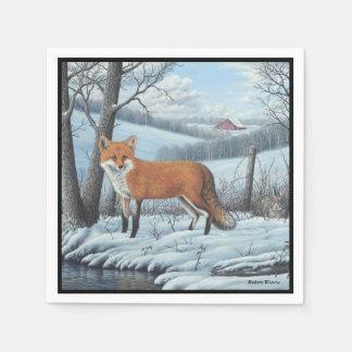Roter Fox Serviette