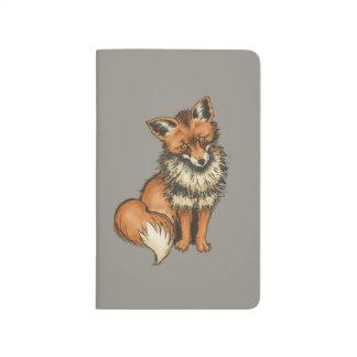 Roter Fox Taschennotizbuch