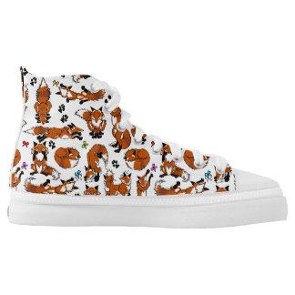 Roter Fox-Tennis-Schuhe Hoch-geschnittene Sneaker