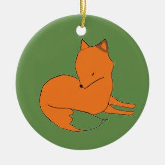 Roter Fox-VerzierungFox Keramik Ornament