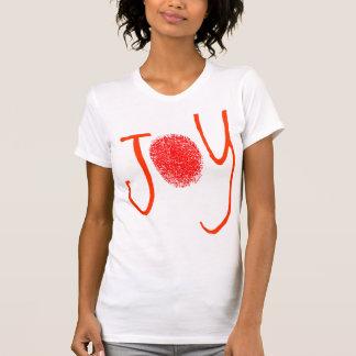 Roter Freude-Fingerabdruck-T - Shirt