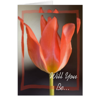Roter Frühlings-Tulpe sind Sie meine Brautjungfer Karte