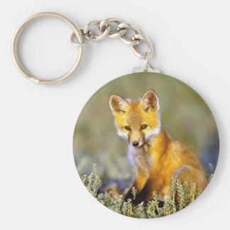 roter Fuchs des niedlichen kleinen Babys Schlüsselanhänger