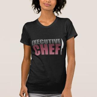 Roter Führungskraft-Koch T-Shirt