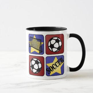 Roter Fußball Tasse