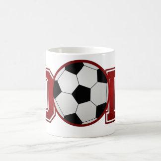 Roter Fußball-Vati Kaffeetasse