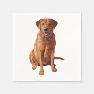 Roter gelber Labrador retriever Hund Fox Serviette