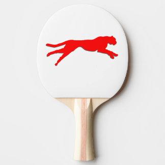 Roter Gepard der grafischen Kunst Tischtennis Schläger