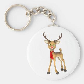 Roter gerochener Ren-Feiertag Keychain Schlüsselanhänger