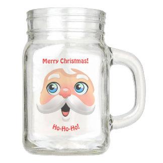 Roter gerochener Weihnachtsmann Einmachglas