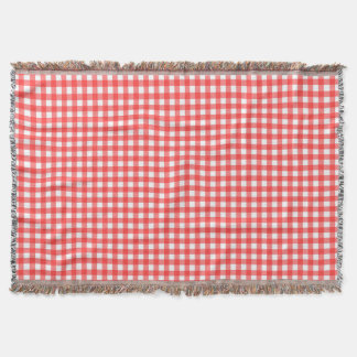 Roter Gingham Decke
