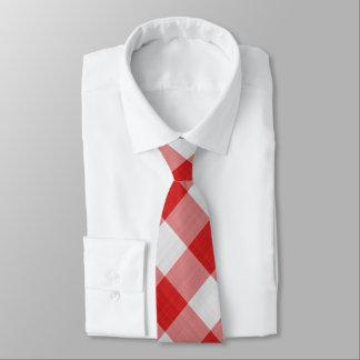 Roter Gingham-Karo - diagonales Muster Krawatte