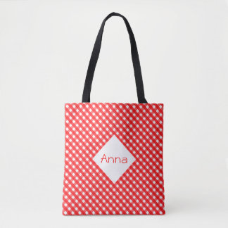 Roter Gingham Tasche