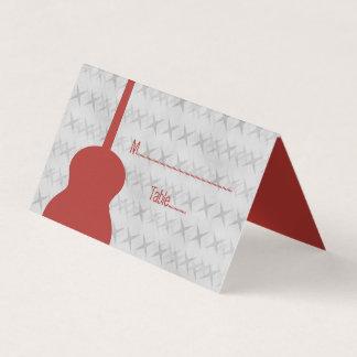 Roter Gitarregrunge-Tented Platzkarte