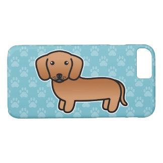Roter glatter Mantel-Dackel-Cartoon-Hund iPhone 8/7 Hülle