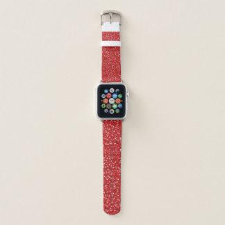 Roter Glitzer-Entwurf Apple Watch Armband
