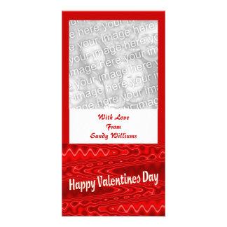 roter glücklicher Valentinstag Foto Karten