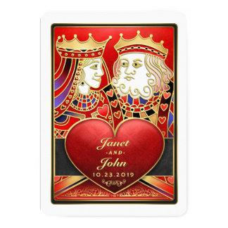 Roter Goldkönig Queen Vegas zusammen mit laden ein Karte